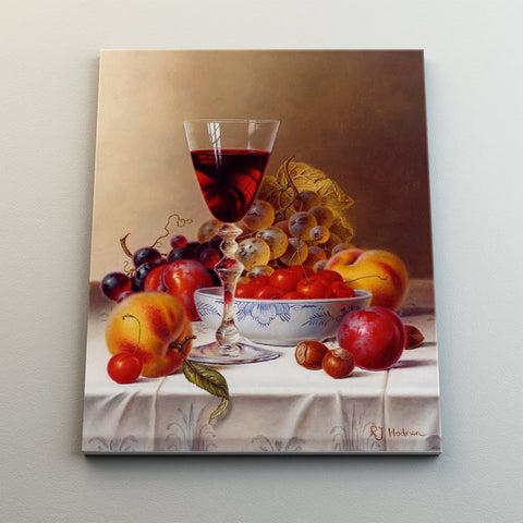 Wine and fruits - Canvas Mérida Fine Print Art