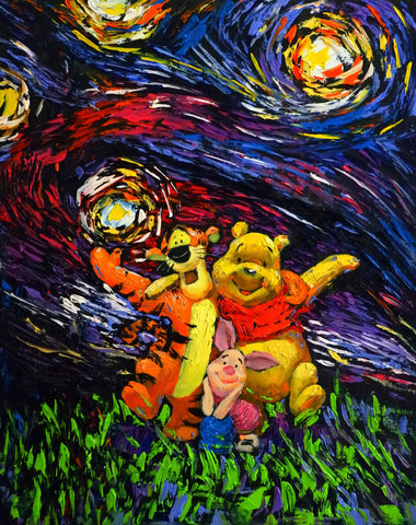 Image of Winnie-The-Pooh-#3 - Canvas Mérida Fine Print Art