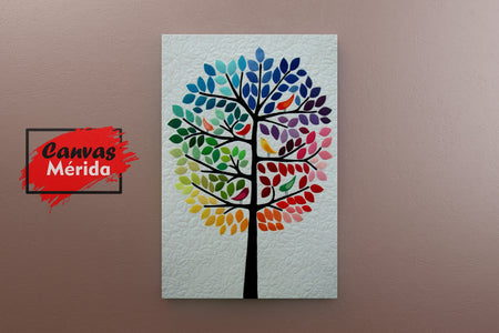 Rainbow Tree - Canvas Mérida Fine Print Art