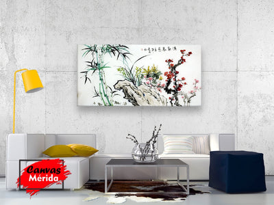 Chinese bamboo number 3 - Canvas Mérida Fine Print Art (4512321142923)