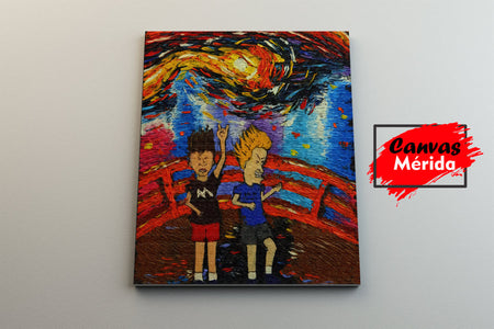 beavis and butthead - Canvas Mérida Fine Print Art
