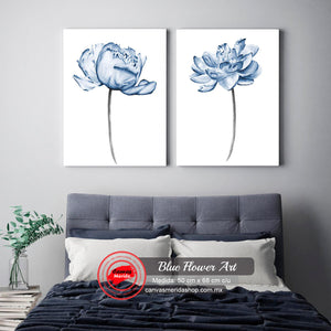 Blue Flower Art - Canvas Mérida Fine Print Art