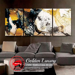 Golden Luxury - Canvas Mérida Fine Print Art