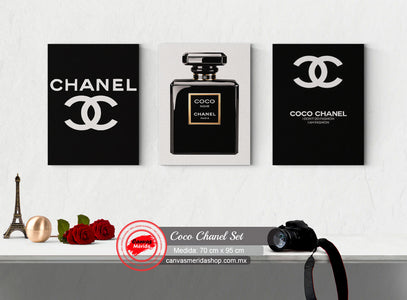Coco Chanel Set - Canvas Mérida Fine Print Art