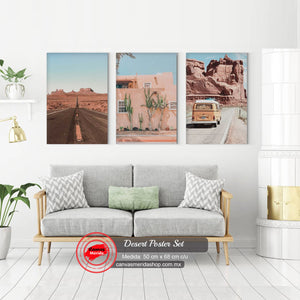 Desert Poster Set - Canvas Mérida Fine Print Art