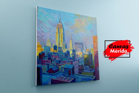 Empire state number 1 - Canvas Mérida Fine Print Art