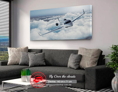 Fly over the clouds - Canvas Mérida Fine Print Art