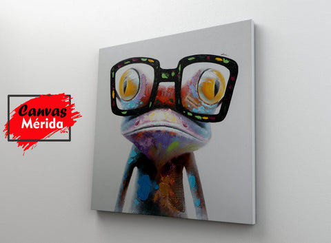 The frog (Rana) - Canvas Mérida Fine Print Art