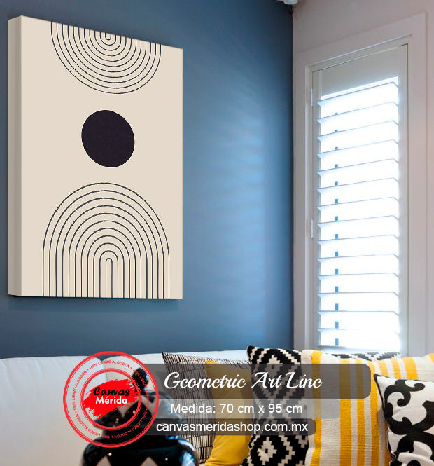 Geometric Art Line - Canvas Mérida Fine Print Art
