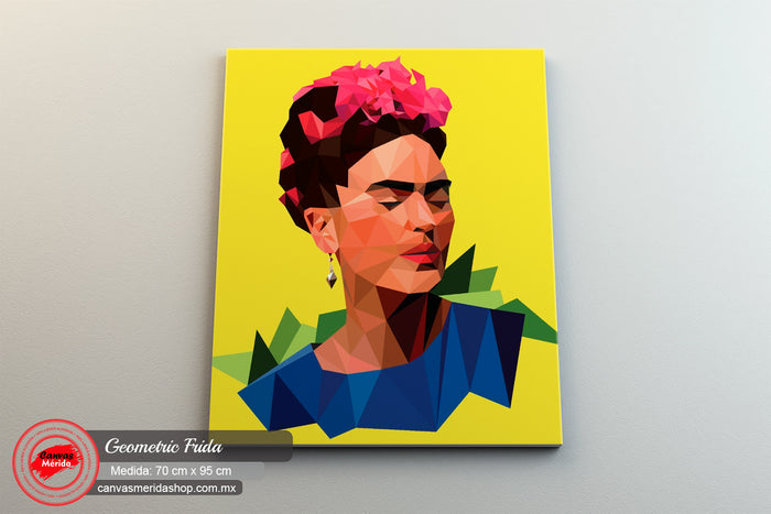 Geometric Frida - Canvas Mérida Fine Print Art