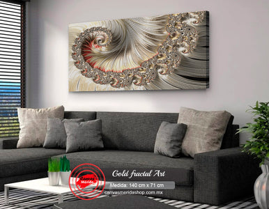 Fractal Gold Art (fractal oro) - Canvas Mérida Fine Print Art