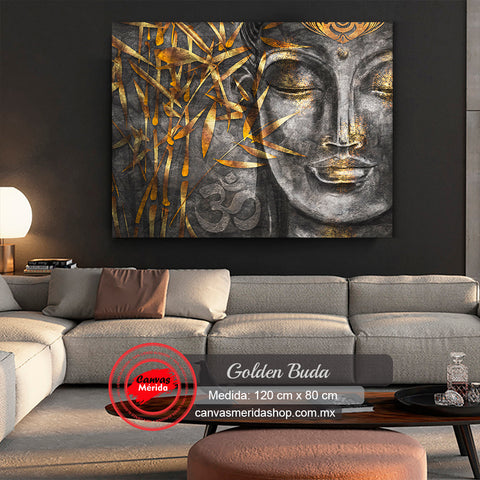 Golden Buda - Canvas Mérida Fine Print Art