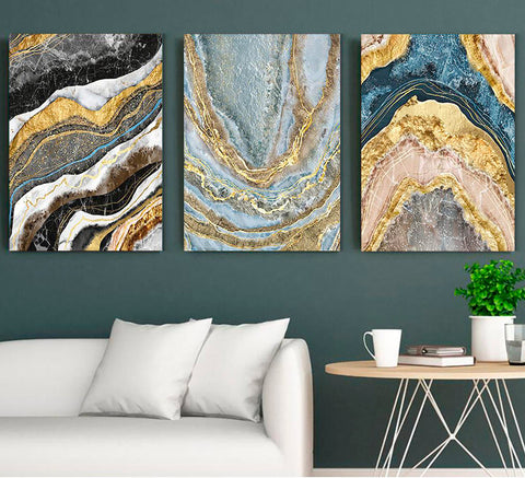 Golden marble set - Canvas Mérida Fine Print Art