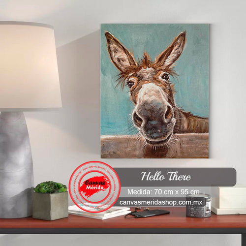 Hello There (burrito, burro) - Canvas Mérida Fine Print Art