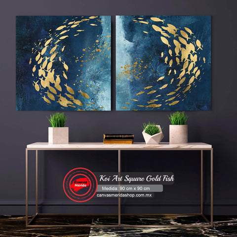 Koi Art Square Gold Fish Set