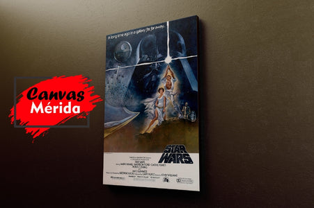 Starwars Vintage Afiche # 1 - Canvas Mérida Fine Print Art