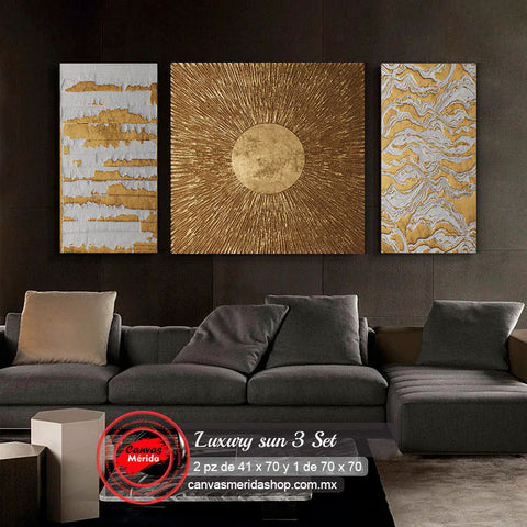 Luxury sun 3 set - Canvas Mérida Fine Print Art