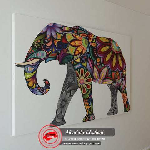 Mandala Elephant - Canvas Mérida Fine Print Art