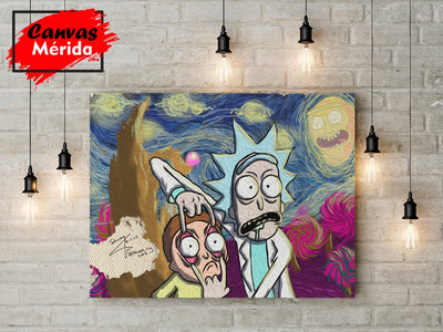 Rick and Morty Van Gogh - Canvas Mérida Fine Print Art