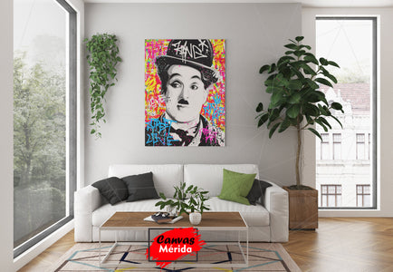 Charles chaplin graffiti - Canvas Mérida Fine Print Art
