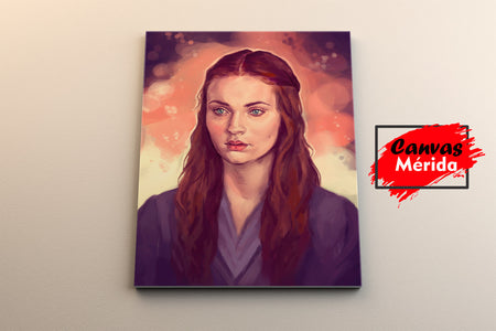 Sansa stark paint - Canvas Mérida Fine Print Art