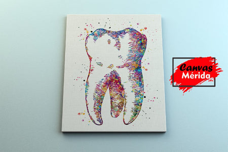 Tooth Art Dental - Canvas Mérida Fine Print Art
