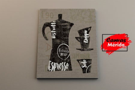 Coffe Time number 10 - Canvas Mérida Fine Print Art
