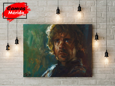 Tyrion lannister paint - Canvas Mérida Fine Print Art