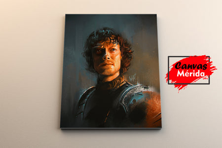 Theon greyjoy - Canvas Mérida Fine Print Art