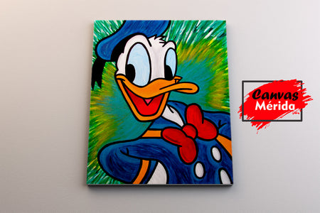 Pato Donald (Acuarela) - Canvas Mérida Fine Print Art