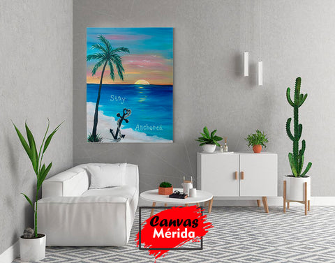 Image of Stay Anchored (permanece anclado) - Canvas Mérida Fine Print Art