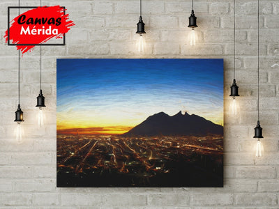Monterrey Mountain View - Canvas Mérida Fine Print Art (4512343621771)