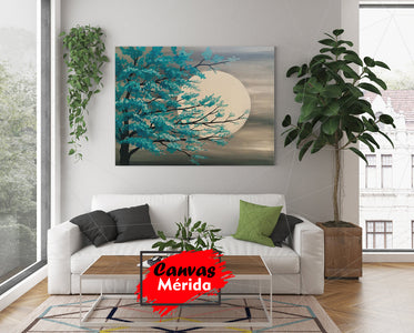 Luna llena painting - Canvas Mérida Fine Print Art