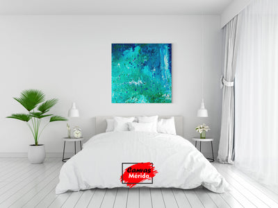 Turquoise abstract - Canvas Mérida Fine Print Art