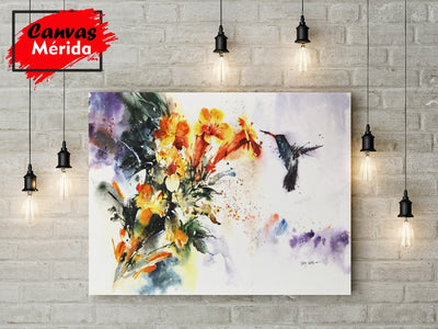 Hummingbird Art - Canvas Mérida Fine Print Art