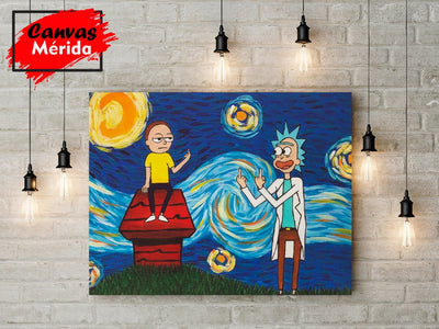 Rick and Morty Snoopy House - Canvas Mérida Fine Print Art