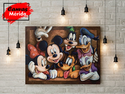 Mickey mouse y sus amigos - Canvas Mérida Fine Print Art