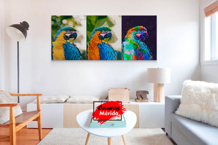 Guacamayo - Canvas Mérida Fine Print Art
