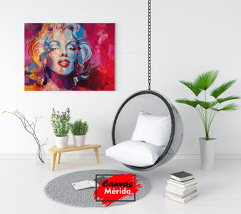 Marilyn monroe abstract - Canvas Mérida Fine Print Art