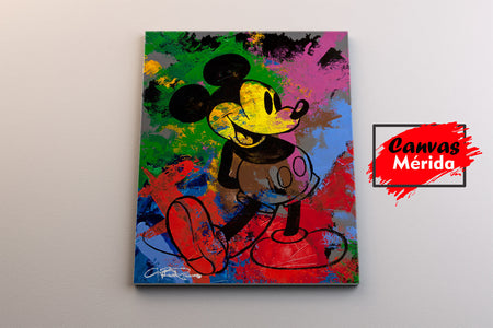 Mickey Mouse Painting - Canvas Mérida Fine Print Art