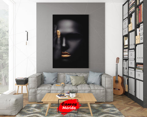 Image of Gold and black - Canvas Mérida Fine Print Art