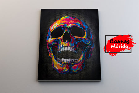 Skull #5 - Canvas Mérida Fine Print Art