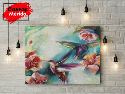 Hummingbird impasto - Canvas Mérida Fine Print Art