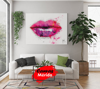 Labios rosa - Canvas Mérida Fine Print Art
