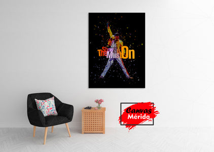Freddie Mercury number 20 (The show must go on) - Canvas Mérida Fine Print Art