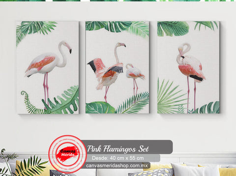 Pink Flamingo (Flamingos rosas) - Canvas Mérida Fine Print Art