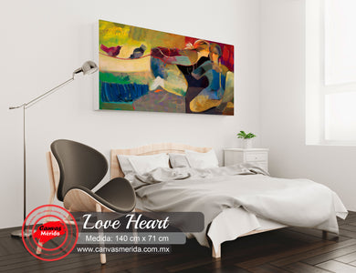Love Heart - Canvas Mérida Fine Print Art