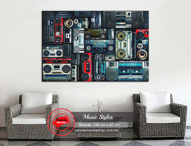 Music Styles - Canvas Mérida Fine Print Art