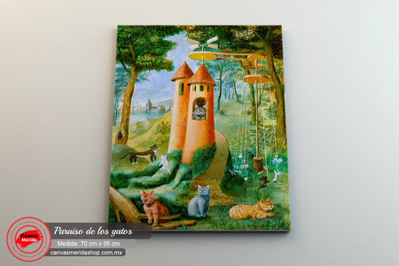 El paraiso de los gatos (Remedios Varo) - Canvas Mérida Fine Print Art