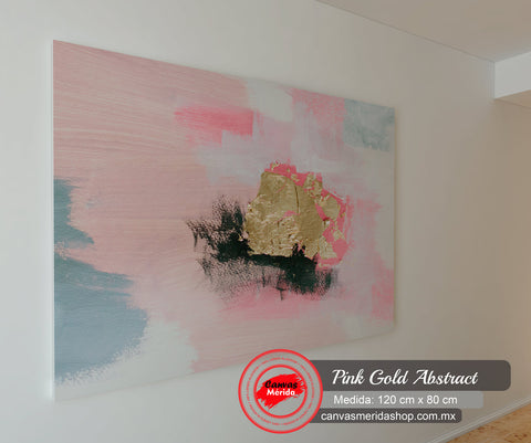 Pink Gold Abstract